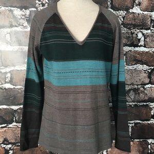 Smartwool V-neck Sweater Merino Wool Pullover XL